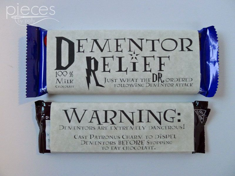 Universal image in dementor chocolate wrapper printable