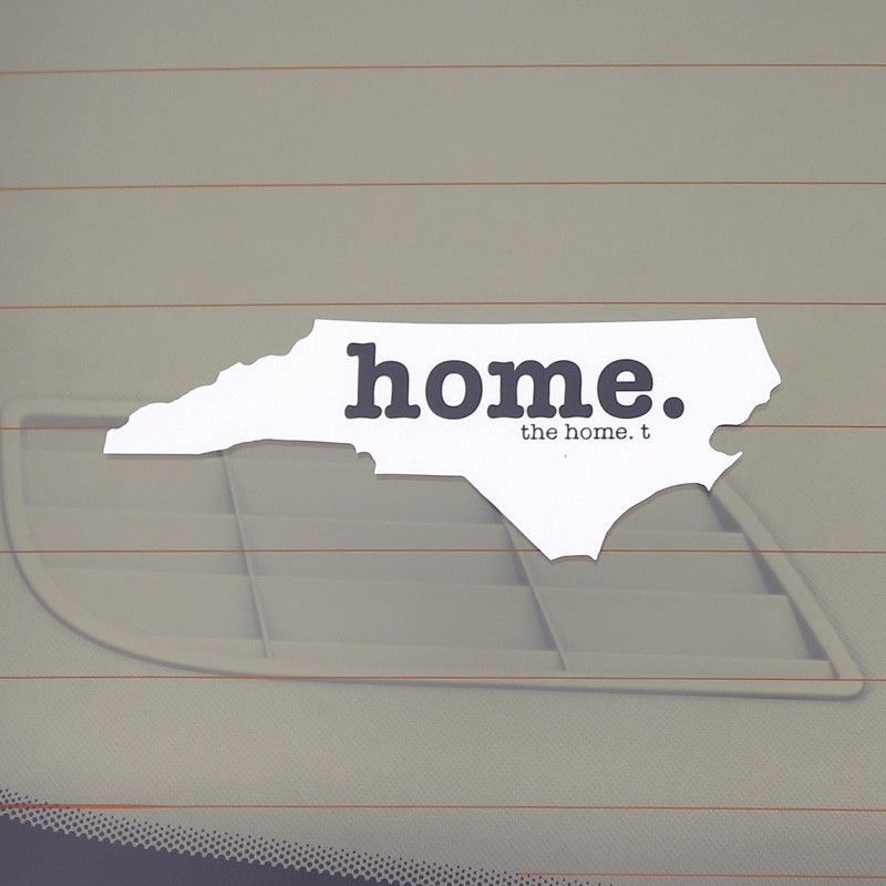 The north carolina home decal is a great way to show off your state pride its perfect for a car window seen in photo laptop mirror or just about any