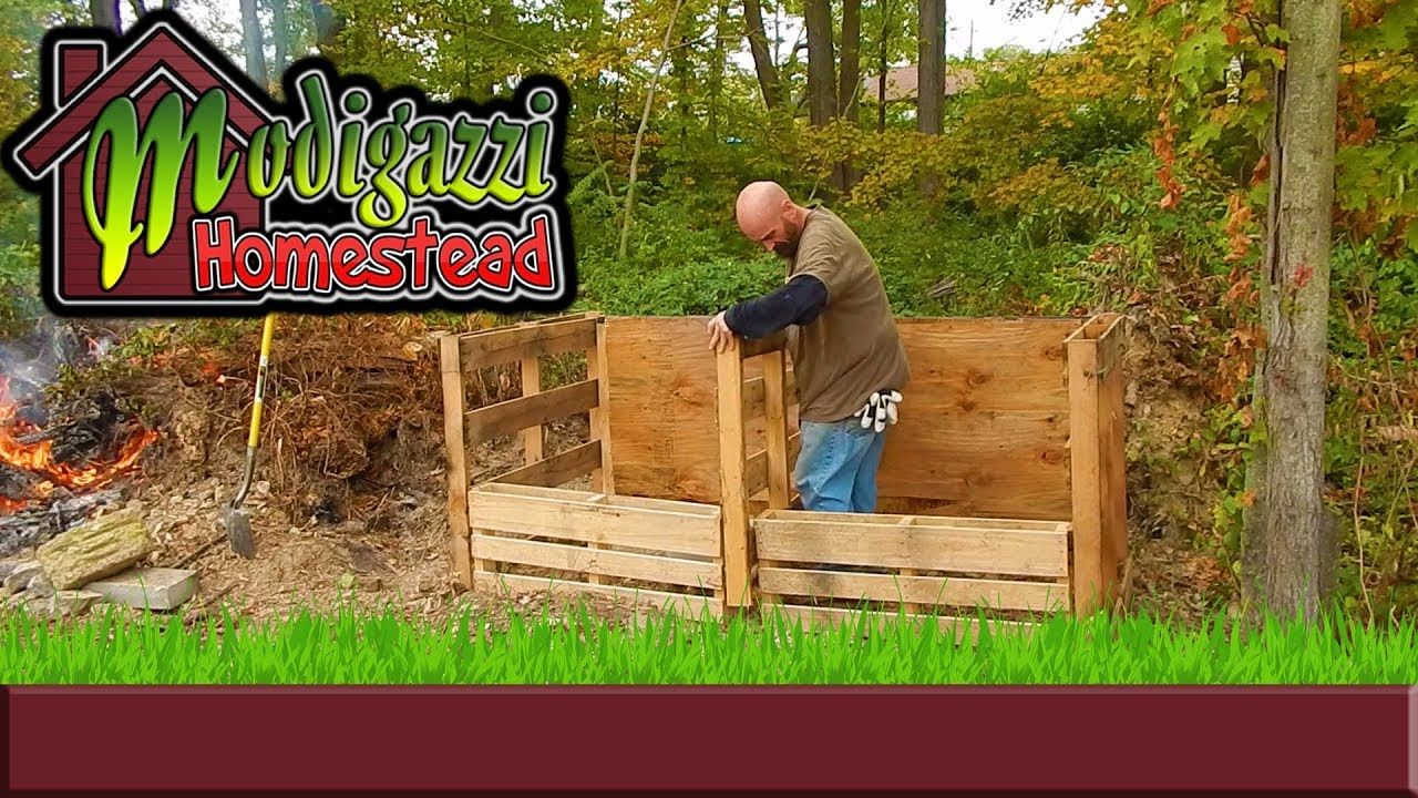 DIY Compost Bins made from Free Repurposed Wood Pallets