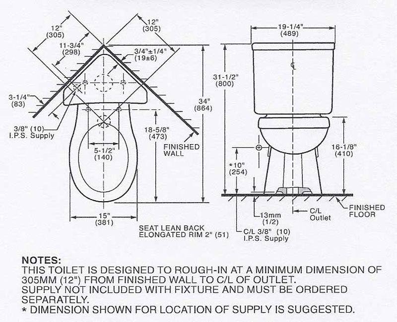 corner toilet dimensions. corner toilet dimensions   Splish splash   bath   Pinterest