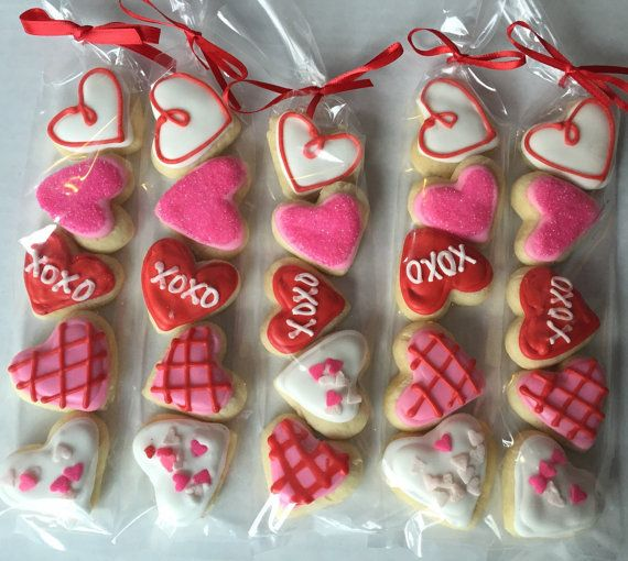 Valentine's Day Sugar Cookie Gift / party favor by Just4YouTreats #cookies