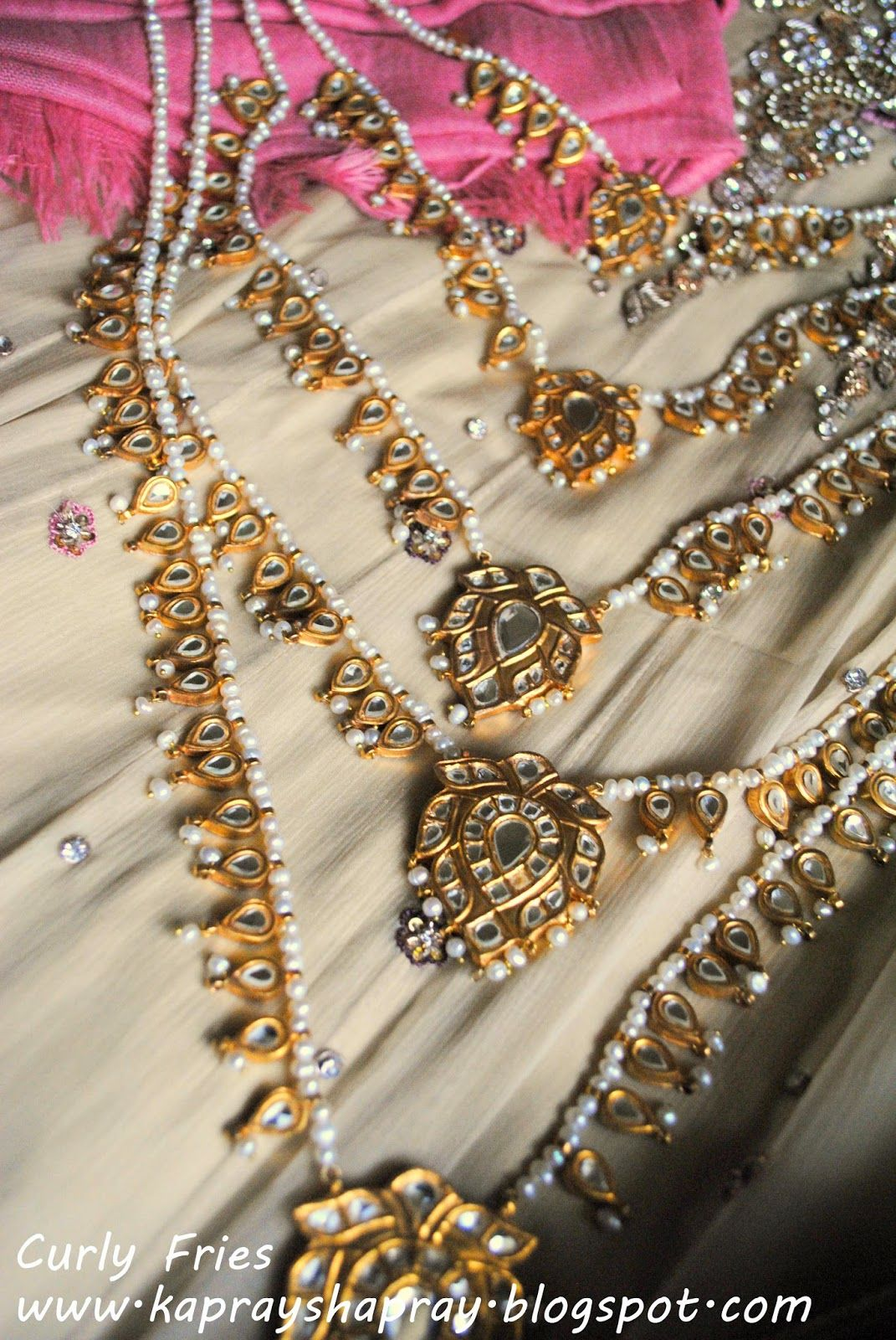 Gold rani haar pictures to pin on pinterest - Bridal Pearl And Kundan Rani Haar Necklace