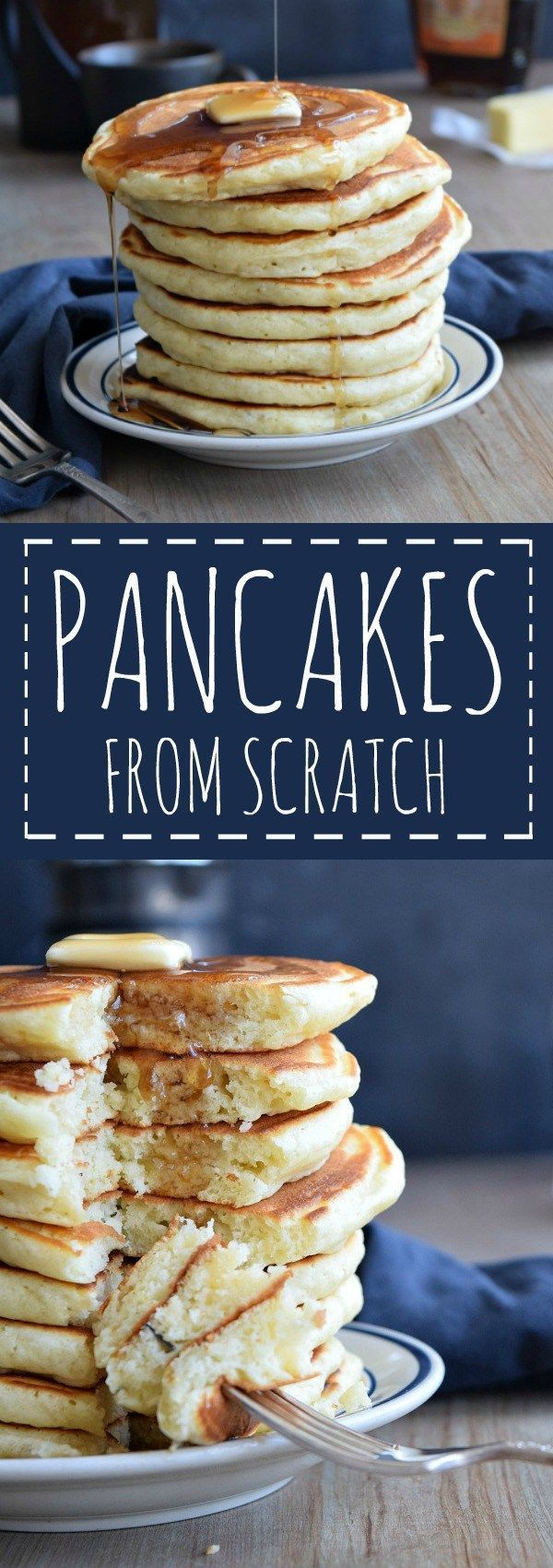 how to make plain pancakes from scratch