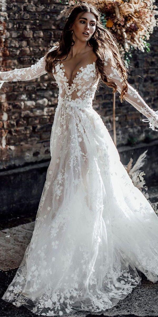 24 Amazing Boho Wedding Dresses With Sleeves | Wedding Dresses Guide