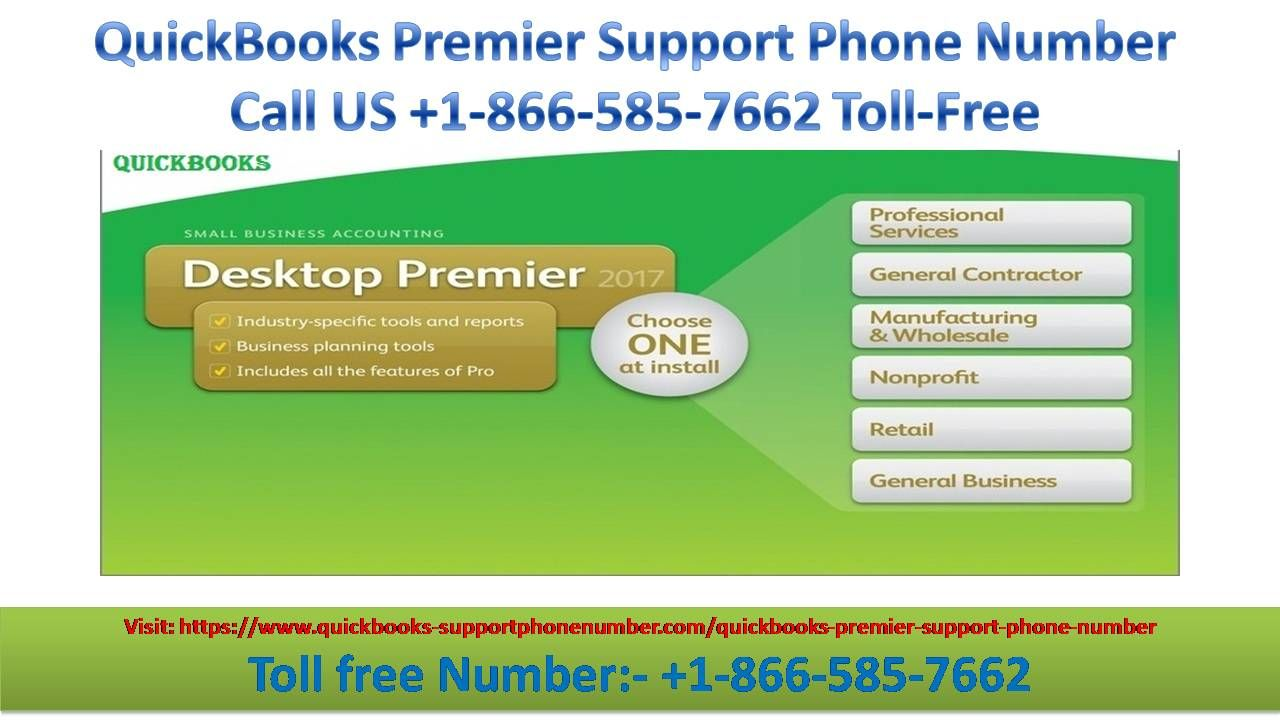 Contact +1-866-585-7662 QuickBooks Premiere Support Phone