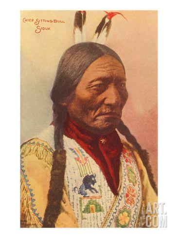Chief Sitting Bull, Sioux Indian Art Print at Art.com ...