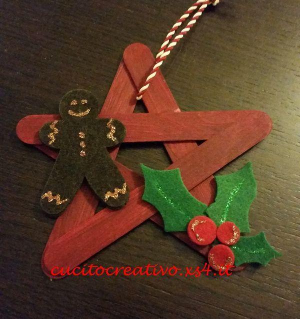 Popolare Stella di Natale con abbassalingua | Christmas DIY | Pinterest  ZZ21
