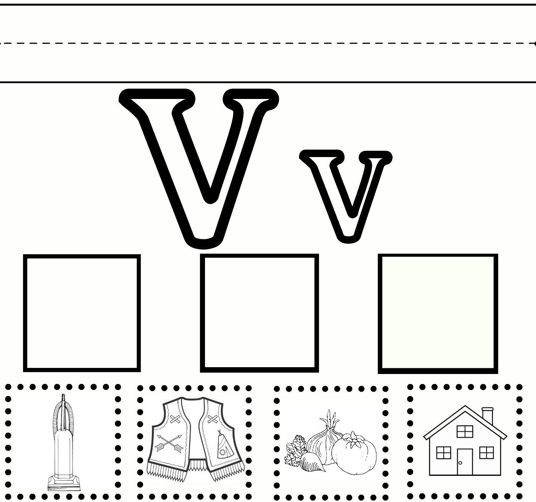 Preschool Sweet Benanna Sam Letter V Worksheets Preschool Letters Preschool Worksheets