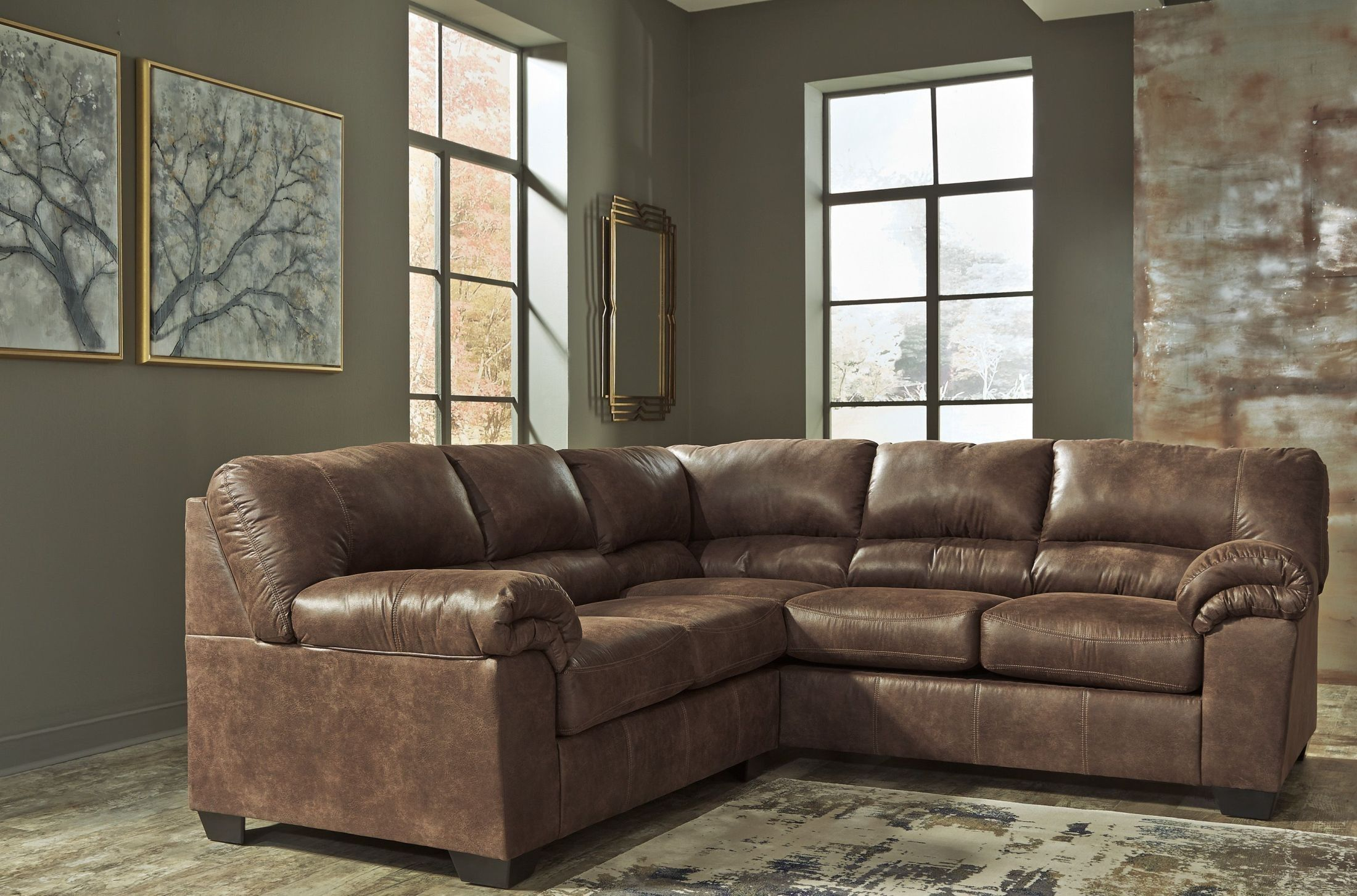 Best Bladen Coffee Laf Sectional In 2020 Faux Leather 400 x 300