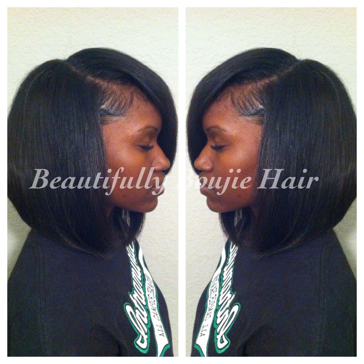 trad. sew-in small leave out slight bob | sewin styles