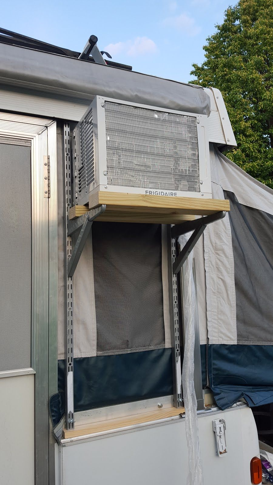 Pop Up Camper Remodel: Window A/C Installation on the PUP ...