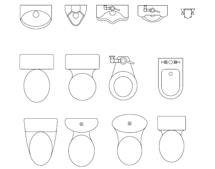 bathroom symbols for floor plan