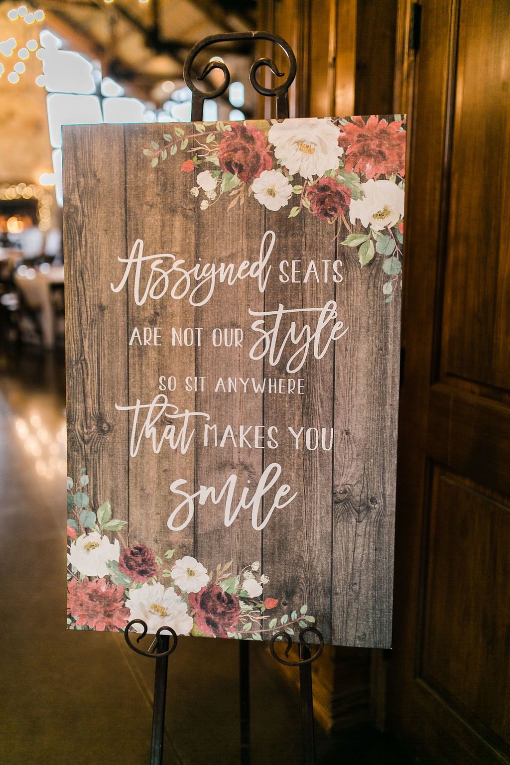 Bohemian Wedding Signs Modern Rustic Wedding Sign Assigned Seats Are Not Our Style So Rustic Wedding Signs Rustic Modern Wedding Wedding Reception Signs