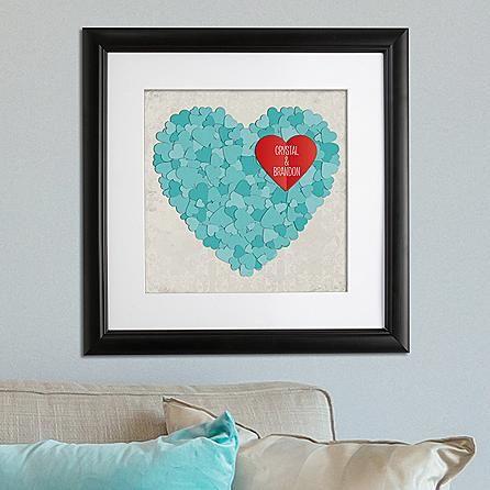 3D Hearts Framed Print