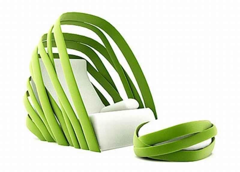 Lounge Chair Banana Leaf Inspired, Kanom By Thinkk Studio