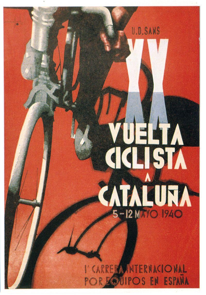 Poster design 1940 - 1940 Volta A Catalunya
