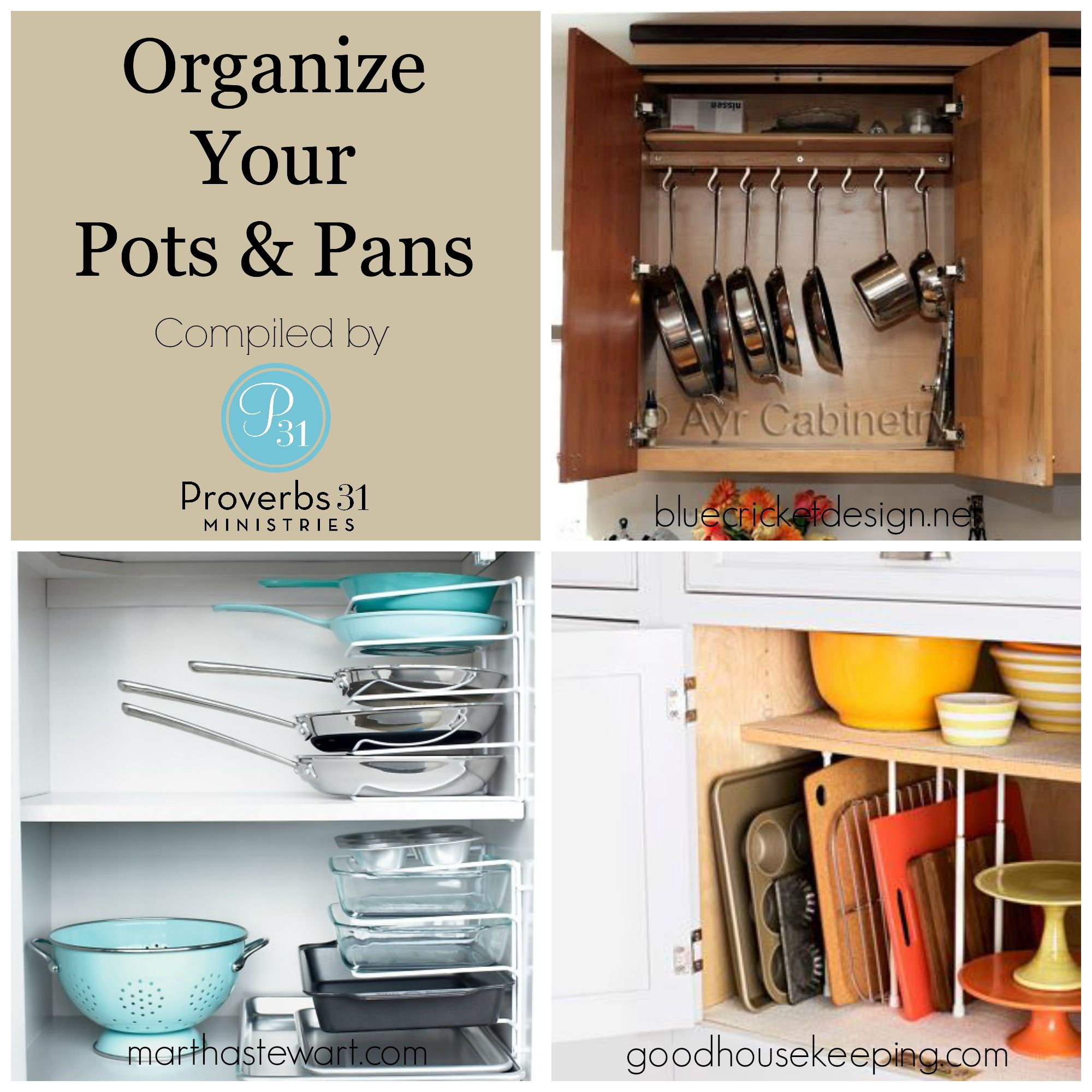 Organize your pots and pans easily find direct links by clicking on