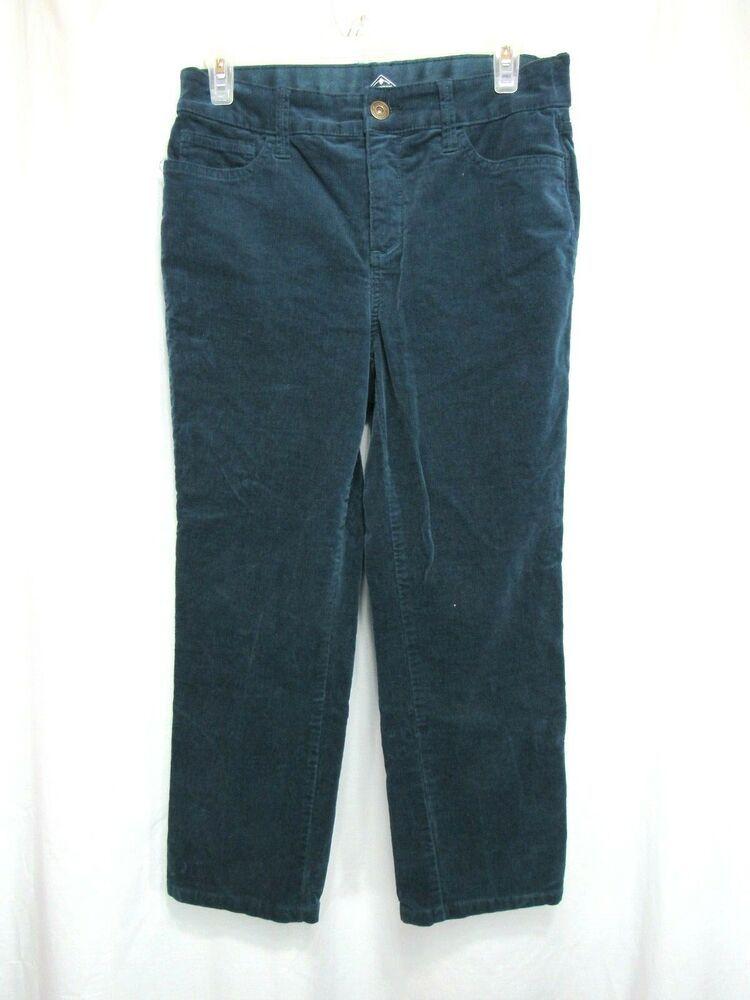 5274124002c9 St Johns Bay Capri Pants Size 8 Green Straight Leg Five Pocket Corduroy  Casual  StJohnsBay  Straight  Casual