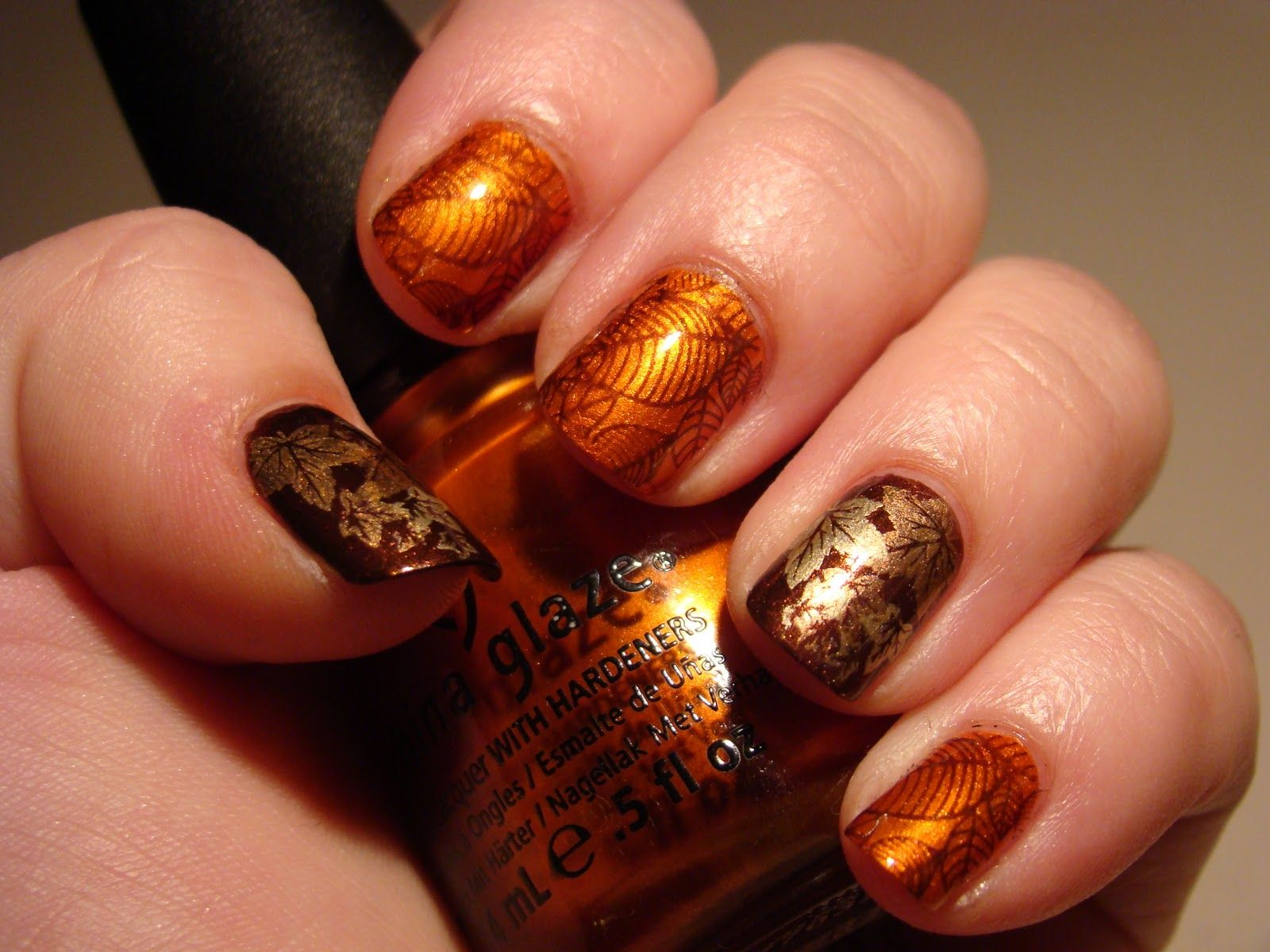 Thanksgiving nail colors base colors china glaze cross iron 360 check out these an amazing fall nail designs and get ready for the fall with some cool autumn nail designs hopefully you will like nail art ideas prinsesfo Choice Image