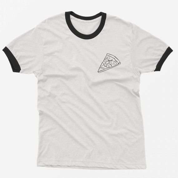 764bdb8eee Pizza Ringer Shirt Funny TShirt Tumblr Pocket Graphic Tee Shirt Women T- shirts teen girl gift for be