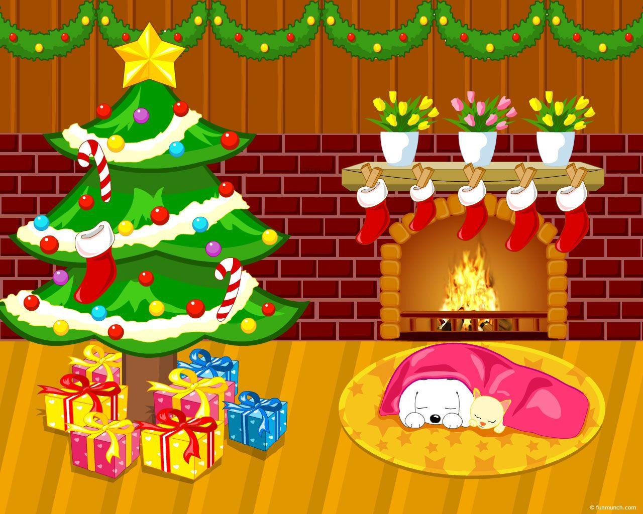 Christmas Tree Cartoon Wallpaper Merry Christmas Pictures Christmas Colors Cartoon Christmas Tree