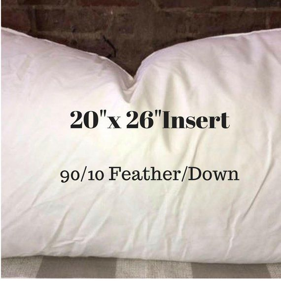 20 X 26 Pillow Insert 90 10 Feather Down Indoor To Go With Your Made Orde