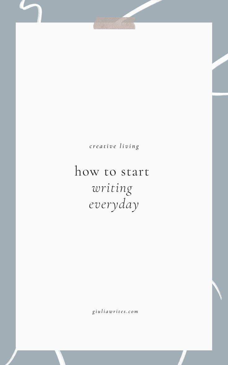 how to build a writing habit and write every day    #writingadvice  #creativeliving