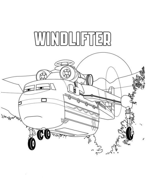 Ausmalbild Planes 2 Windlifter Ausmalen Malvorlagen Und