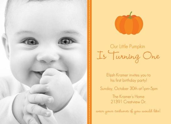 Halloween First Birthday Party Invitations 1st Birthdays