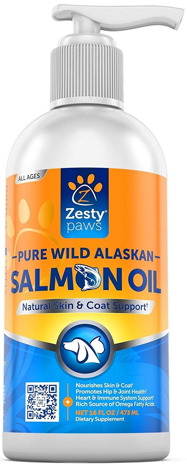 Zesty Paws Pure Wild Alaskan Salmon Oil for Dogs and Cats