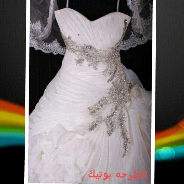 فستان عروس جديد تصميم مميز لدى الطرحه بوتيك للاستفسار 55897555 55550915 One Shoulder Wedding Dress Dresses Wedding Dresses
