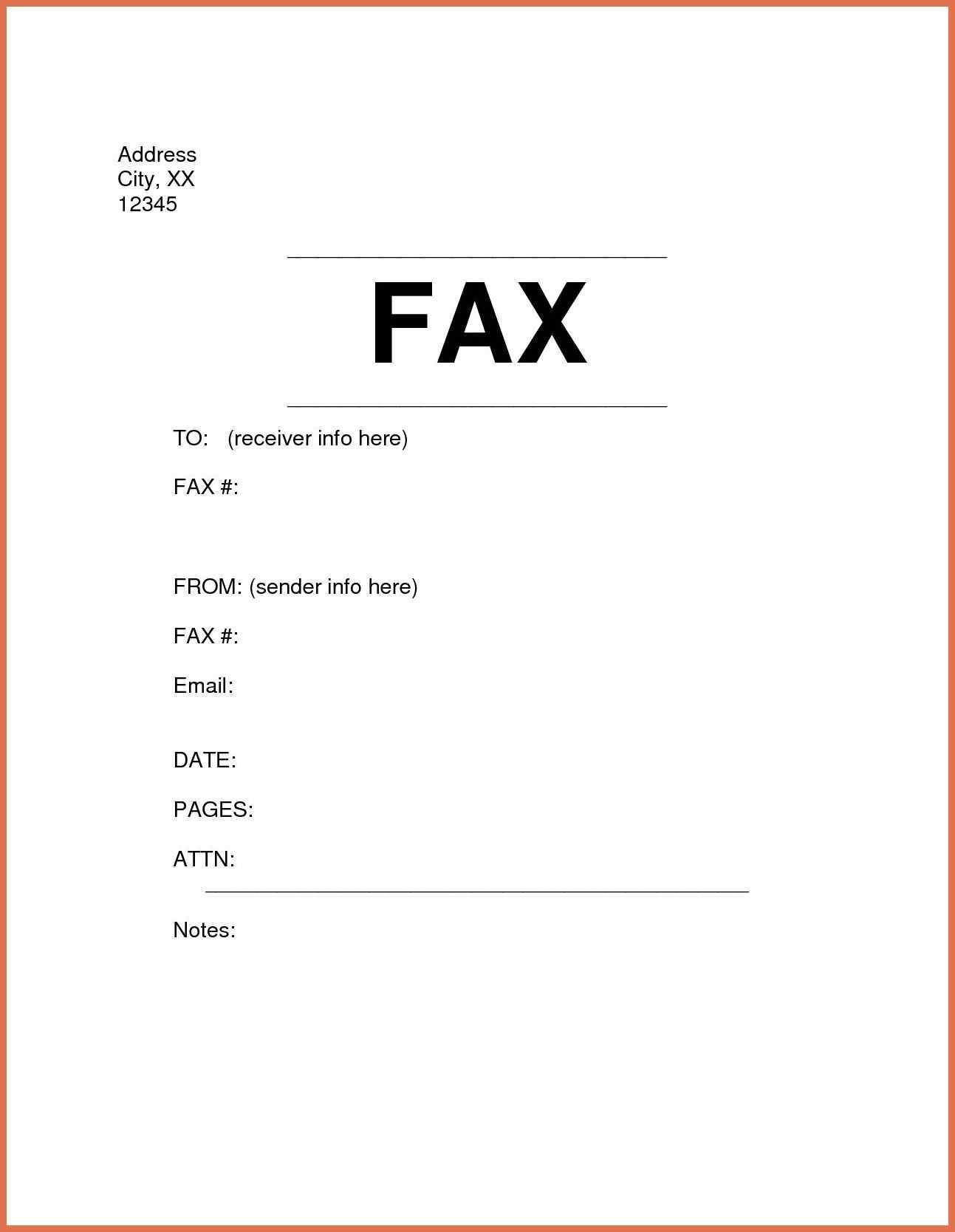 This printable fax cover sheet shows a pen writing the word Fax in ...