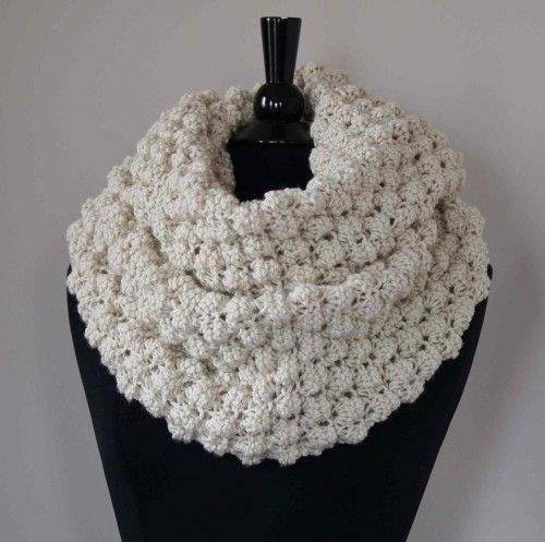 Cowl PDF Pattern: Knit Extra Big, Extra Chunky Snood - Infinity Scarf Craft...