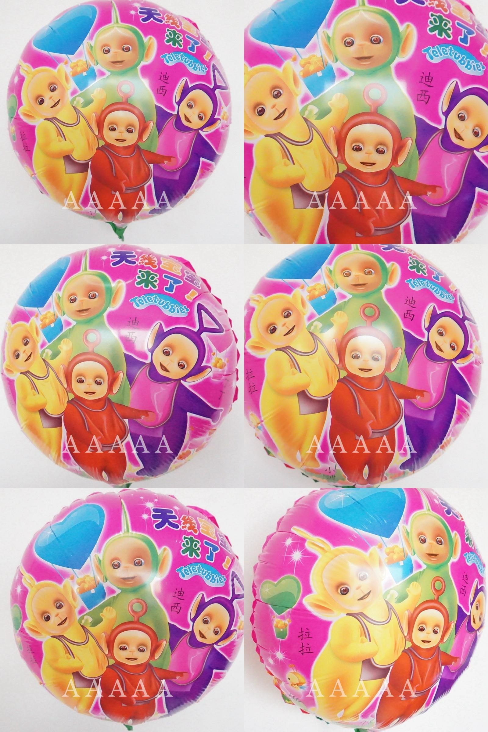 Visit to Buy] (2pcs/lot) 18inch round cartoon balloons Teletubbies ...