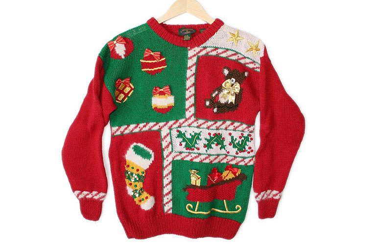Ugly Christmas Sweater, L tacky Christmas sweater, vintage Christmas sweater for women men large Christmas sweater, Christmas jumper
