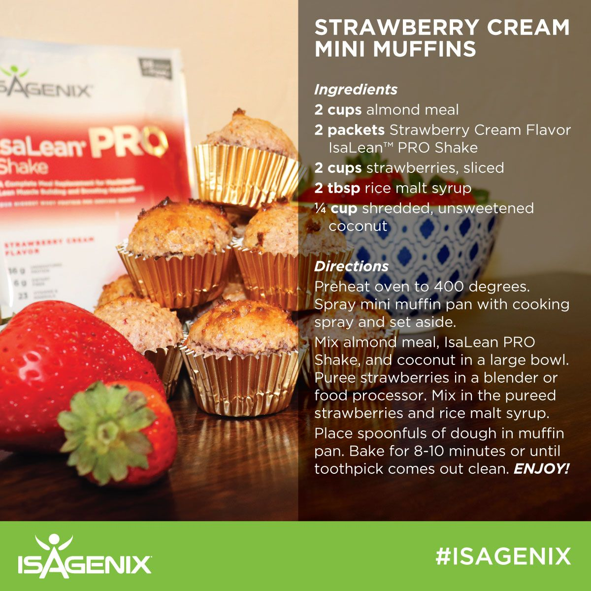 Try These Strawberry Cream Mini Muffins For A Delicious