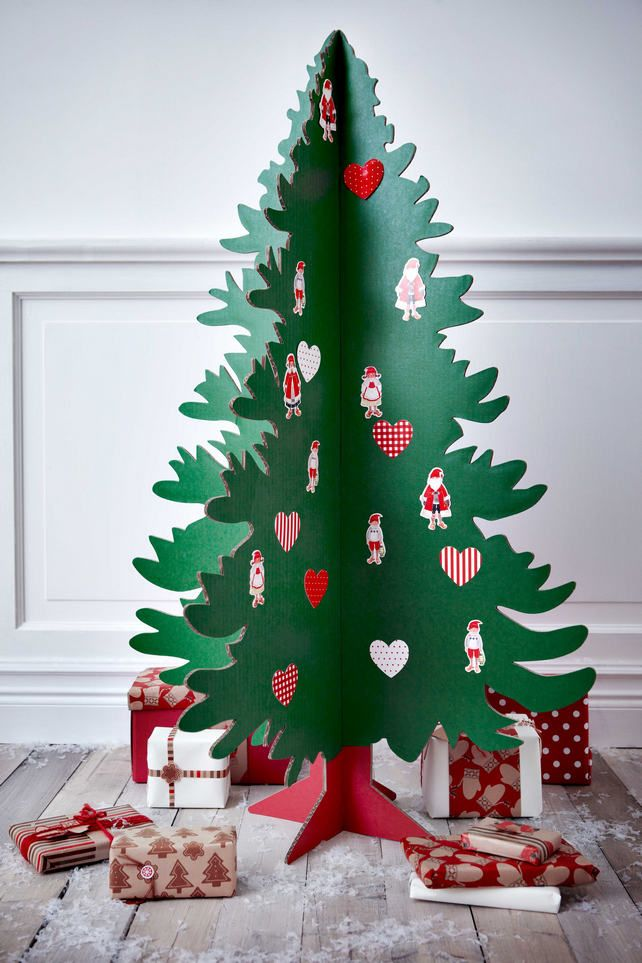 Karacsonyi Dekoracio Otletek Es Karacsonyfa Alternativak Alternative Christmas Tree Christmas Diy Cardboard Christmas Tree