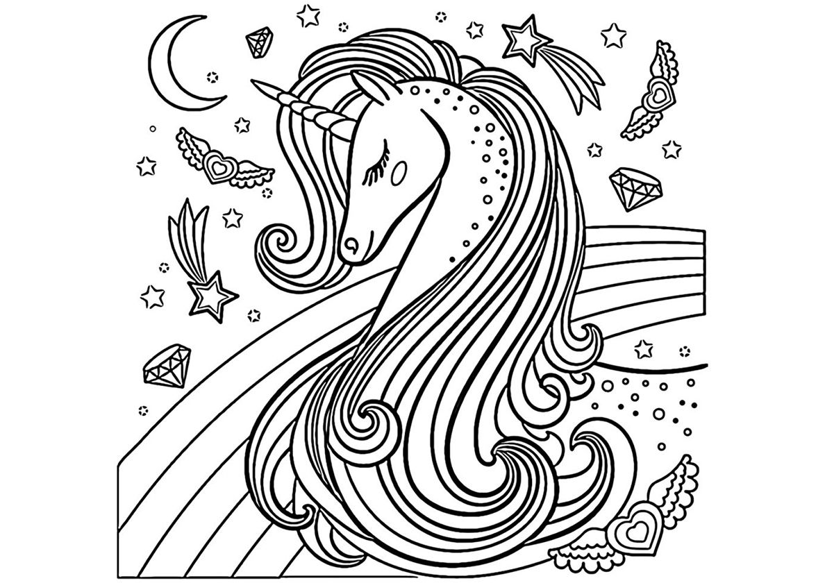 Beautiful Creature High Quality Free Coloring From The Category Unicorn More Printable Pictures O Unicorn Coloring Pages Coloring Pages Cool Coloring Pages