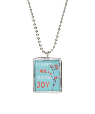 This today i will choose joy pendant necklace is perfect this today i will choose joy pendant necklace is perfect zulilyfinds aloadofball Gallery
