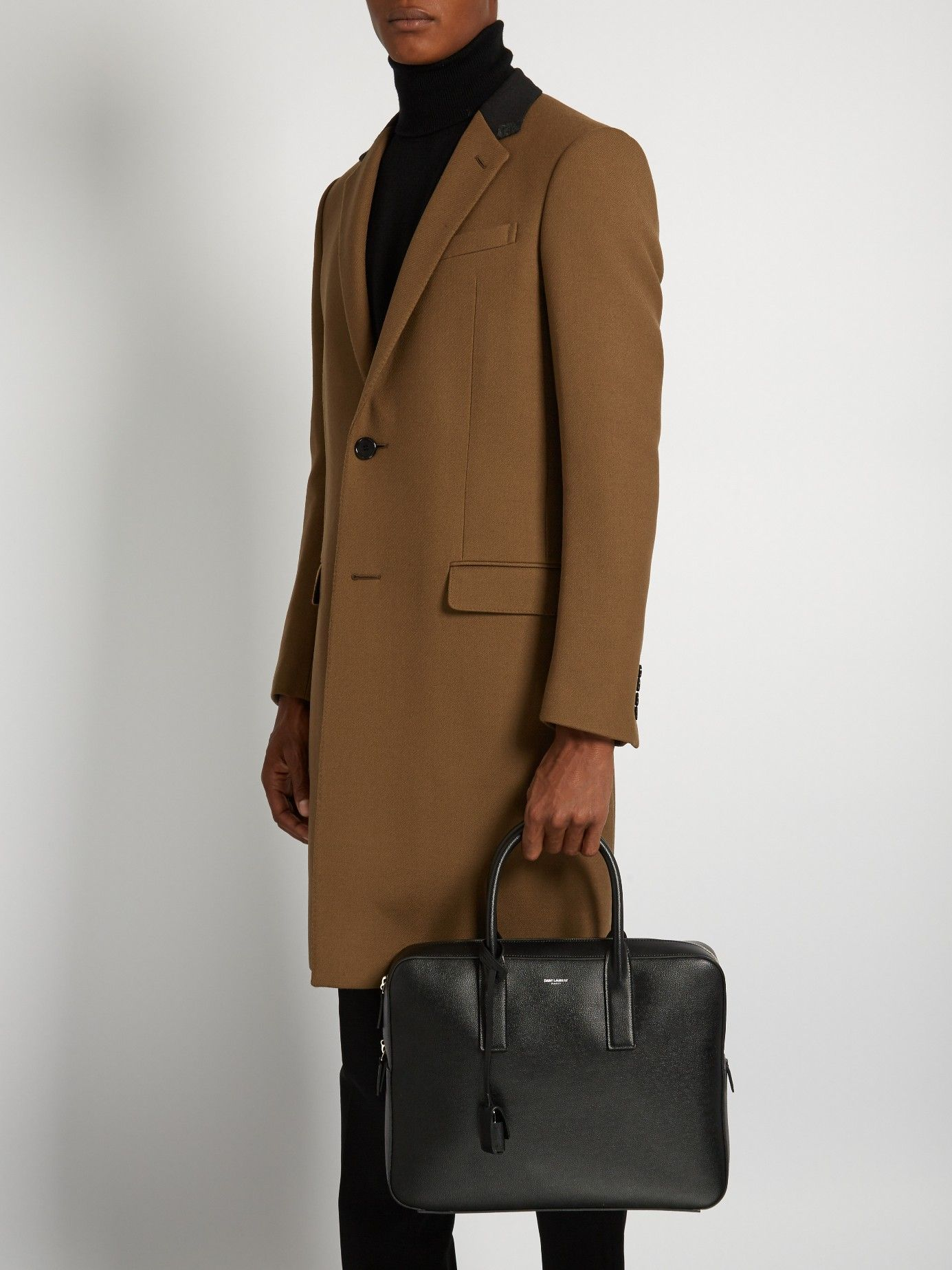 SAINT LAURENT Museum leather briefcase €1,346