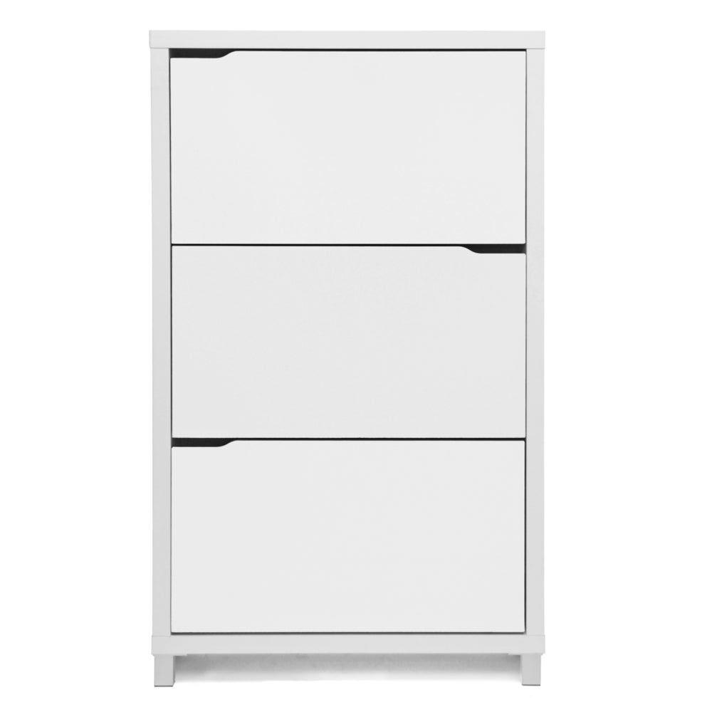 Baxton Studio Simms 3 Tier White Wood Modern Shoe Cabinet In 2020