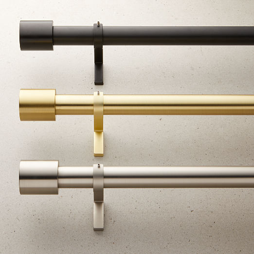All Curtains Curtain Hardware Cb2 In 2020 Curtain Rods