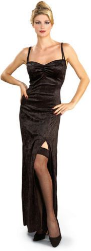 Mystery Lady Masquerade Party Black Dress Adult Costume