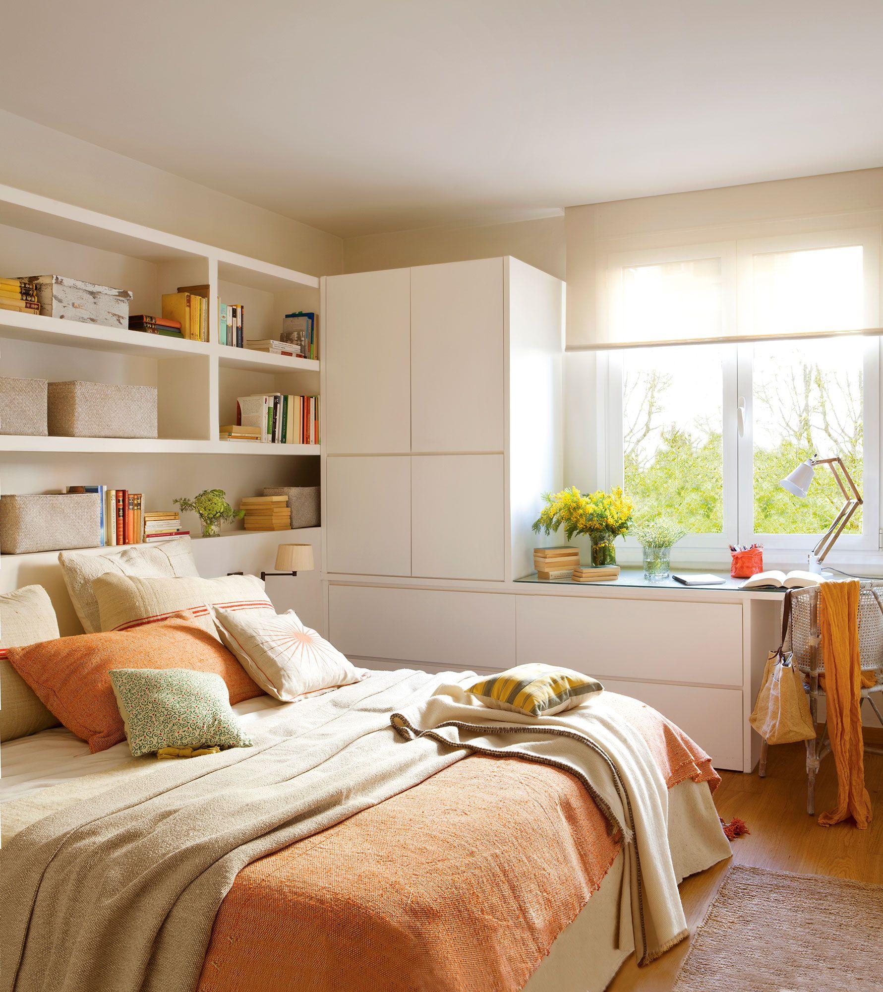 Con Baldas Armarios Y Mesa De Trabajo Dormitorio Real Dormitorios Muebles A Medida