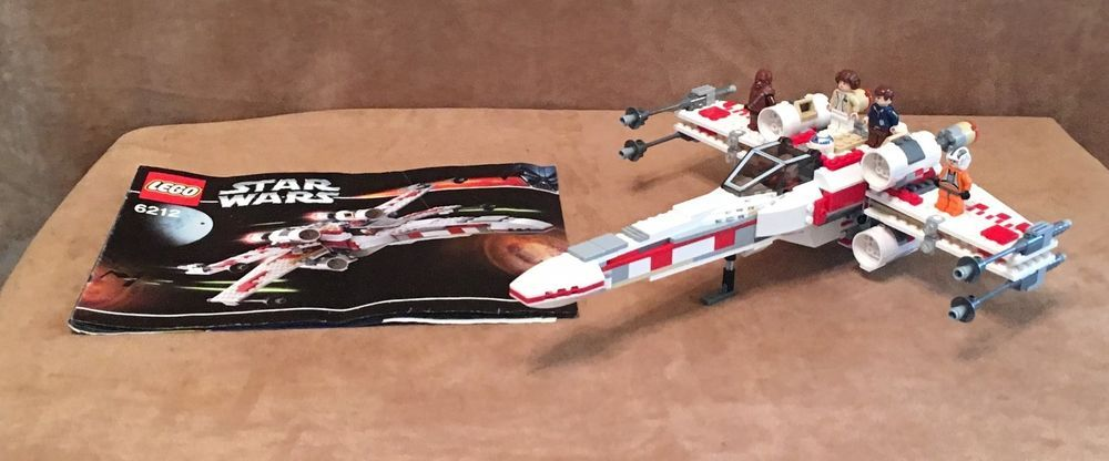 6212 Lego Complete Star Wars X-Wing Fighter instructions TRU ...