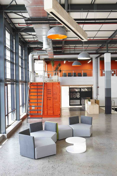 modern office interior design  shipping containers also rh pinterest