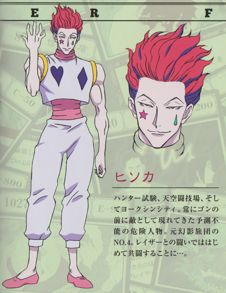 rainyface Some of Hisoka's character design