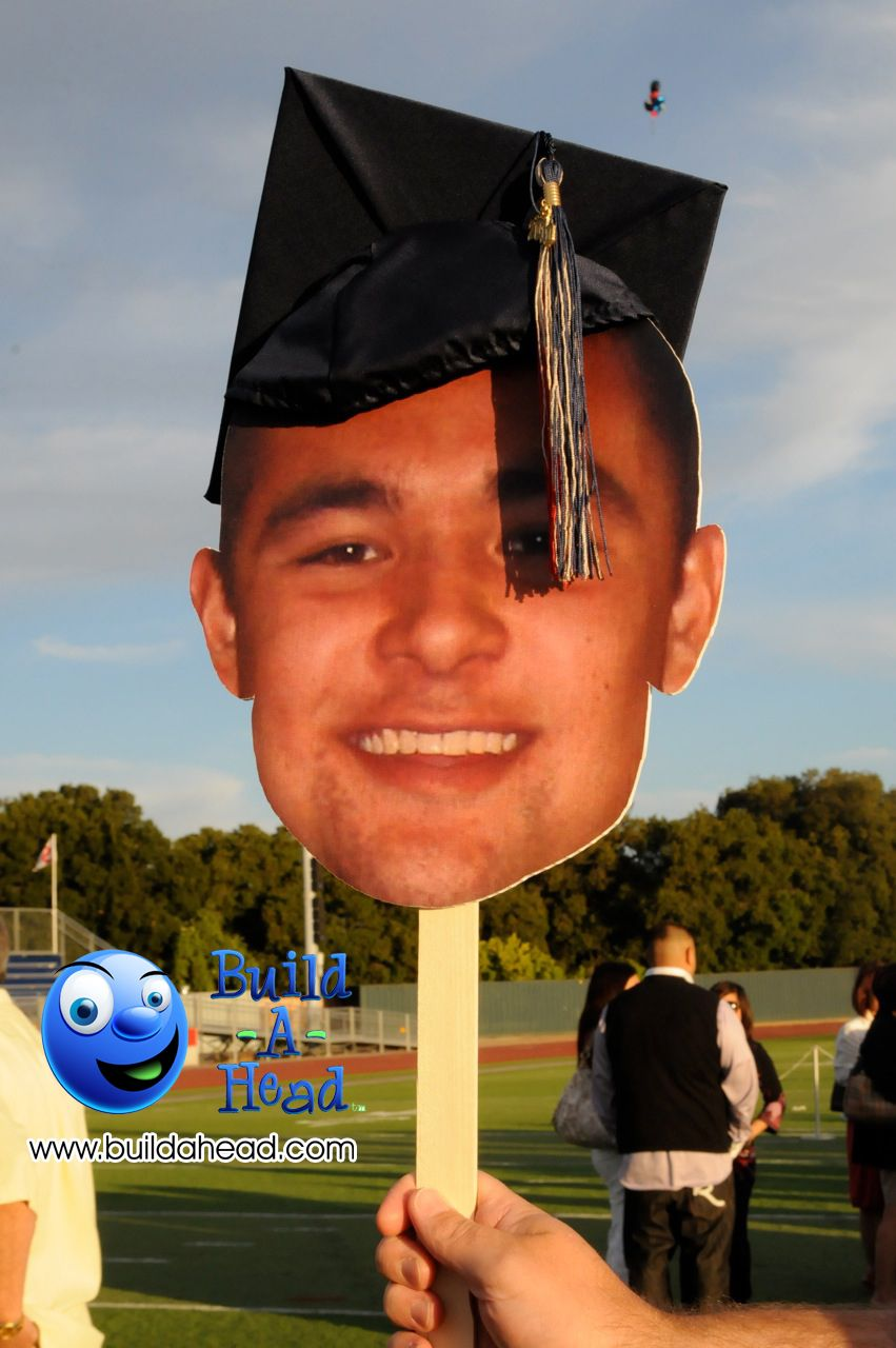 Build A Head >> Lol. Graduation day celebration and the BIG head graduates too! (notice we put the hat on after ...