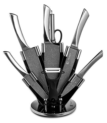 imperial collection 9 piece stainless steel knife set with stainless