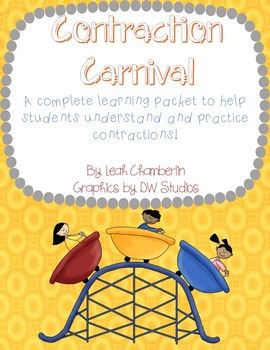 Contractions Carnival A Complete Contraction Packet Teacher Checklist Contractions Activities Literacy Activities